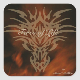 Fires of Life Dragon Sticker