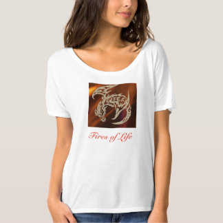 Fires of Life women's slouchy fun tee