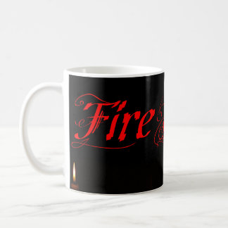 Firestarter Candles Burning in the Dark Coffee Mug