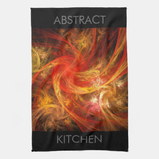 Firestorm Abstract Art Kitchen Towel