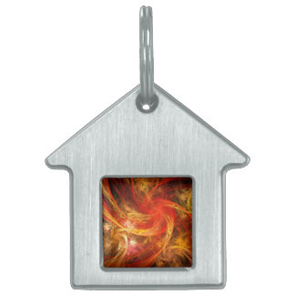 Firestorm Nova Abstract Art House Pet ID Tag