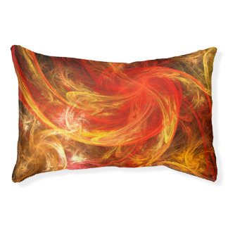 Firestorm Nova Abstract Art Pet Bed
