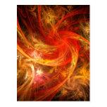 Firestorm Nova Abstract Art Postcard