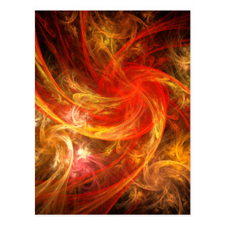 Firestorm Nova Abstract Art Postcard