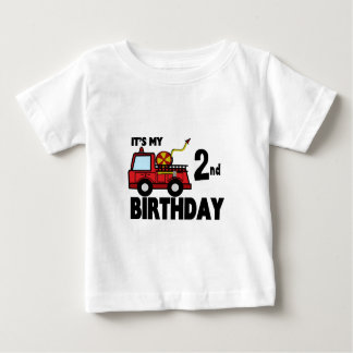 FireTruck Birthday Baby T-Shirt