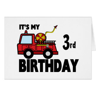 FireTruck Birthday Card