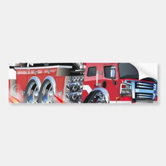 firetruck burnout bumper sticker