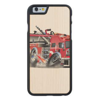 firetruck burnout carved® maple iPhone 6 case