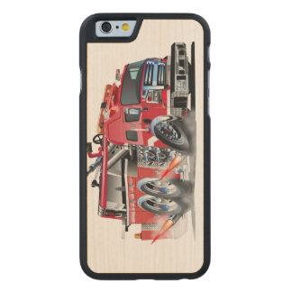 firetruck burnout carved maple iPhone 6 case