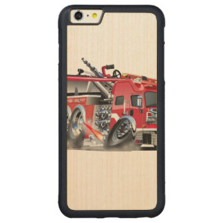 firetruck burnout carved® maple iPhone 6 plus bumper case