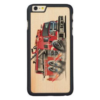 firetruck burnout carved® maple iPhone 6 plus case