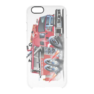 firetruck burnout clear iPhone 6/6S case