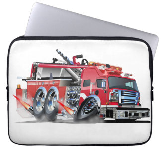 firetruck burnout laptop sleeves
