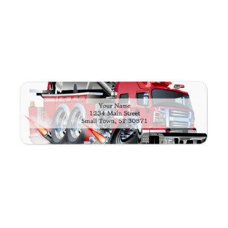firetruck burnout return address label