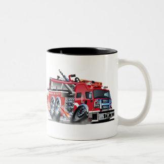firetruck burnout Two-Tone coffee mug