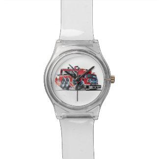 firetruck burnout wristwatches