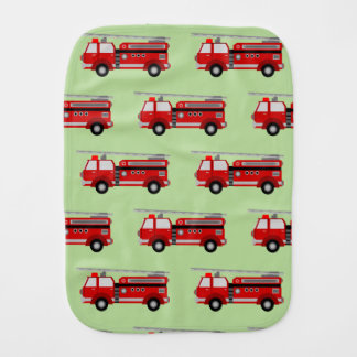 Firetruck burp cloth