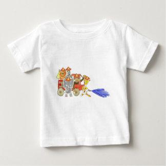 Firetruck Critters Baby T-Shirt