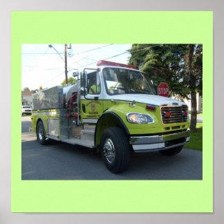 Firetruck Design Poster