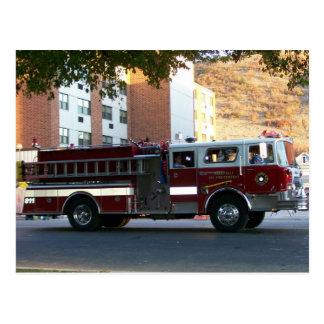 Firetruck Postcard
