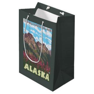 Fireweed & Mountains - Denali Nat'l Park, Medium Gift Bag