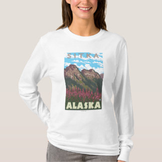 Fireweed & Mountains - Sitka, Alaska T-Shirt