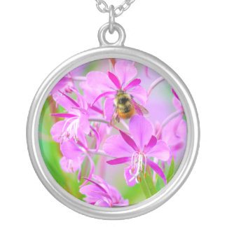 Fireweed Silver Plated Necklace