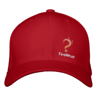 FireWhat Fit Hat with White logo Embroidered Hat