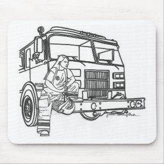 Firewoman Mouse Pad