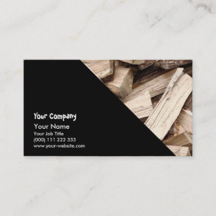 Logging business cards business card printing zazzle ca firewood business card reheart Images