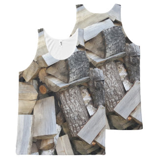 Firewood  logs photograph All-Over-Print tank top