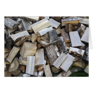 Firewood  logs photograph card