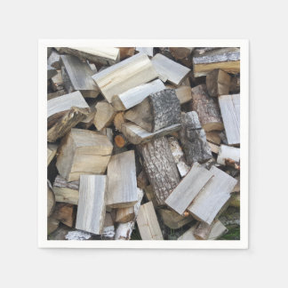 Firewood  logs photograph disposable napkin