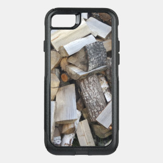 Firewood  logs photograph OtterBox commuter iPhone 8/7 case