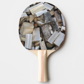 Firewood  logs photograph ping pong paddle