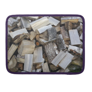 Firewood  logs photograph sleeve for MacBooks