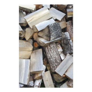 Firewood  logs photograph stationery