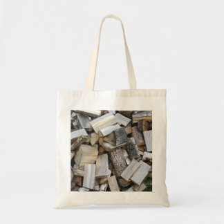 Firewood  logs photograph tote bag
