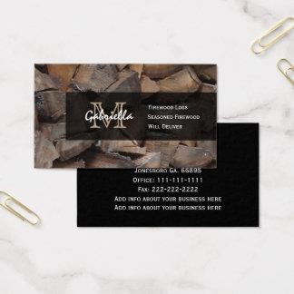 Firewood Monogram Business Cards