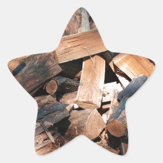 firewood star sticker