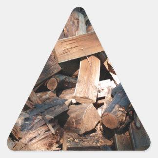 firewood triangle sticker