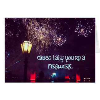 Firework Card