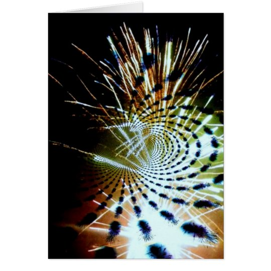 Firework Celebration Abstract Custom Greeting Card
