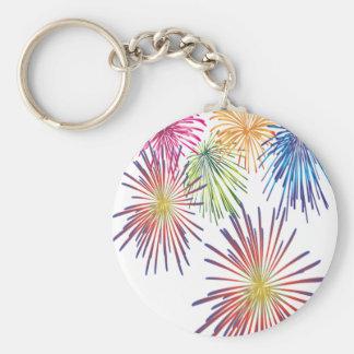 Firework Fun Colorful Modern Beautiful Keychain