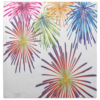 Firework Fun Colorful Modern Beautiful Napkin