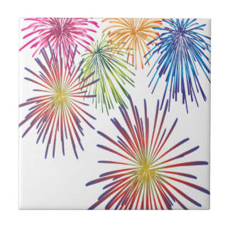 Firework Fun Colorful Modern Beautiful Tile