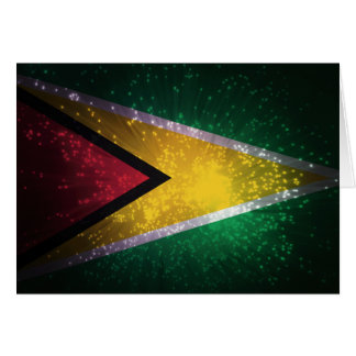 Firework; Guyana Flag Card