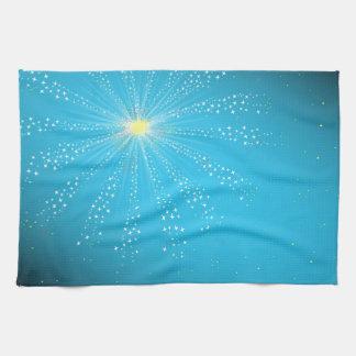 Firework On Blue Kitchen Towel