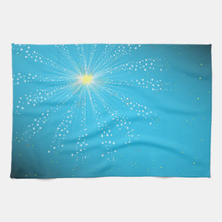 Firework On Blue Towel