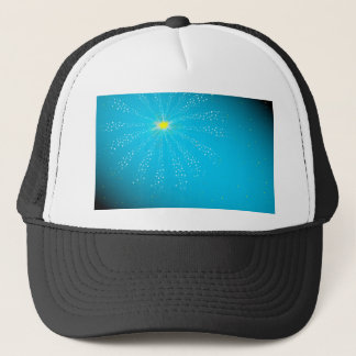 Firework On Blue Trucker Hat
